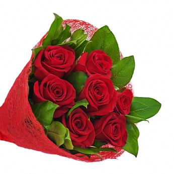 Send 7 red roses to Ukraine